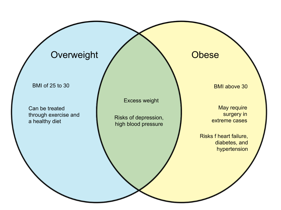 Difference Between Overweight and Obese