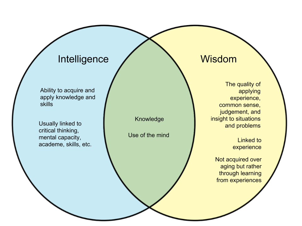 Difference Between Intelligence and Wisdom