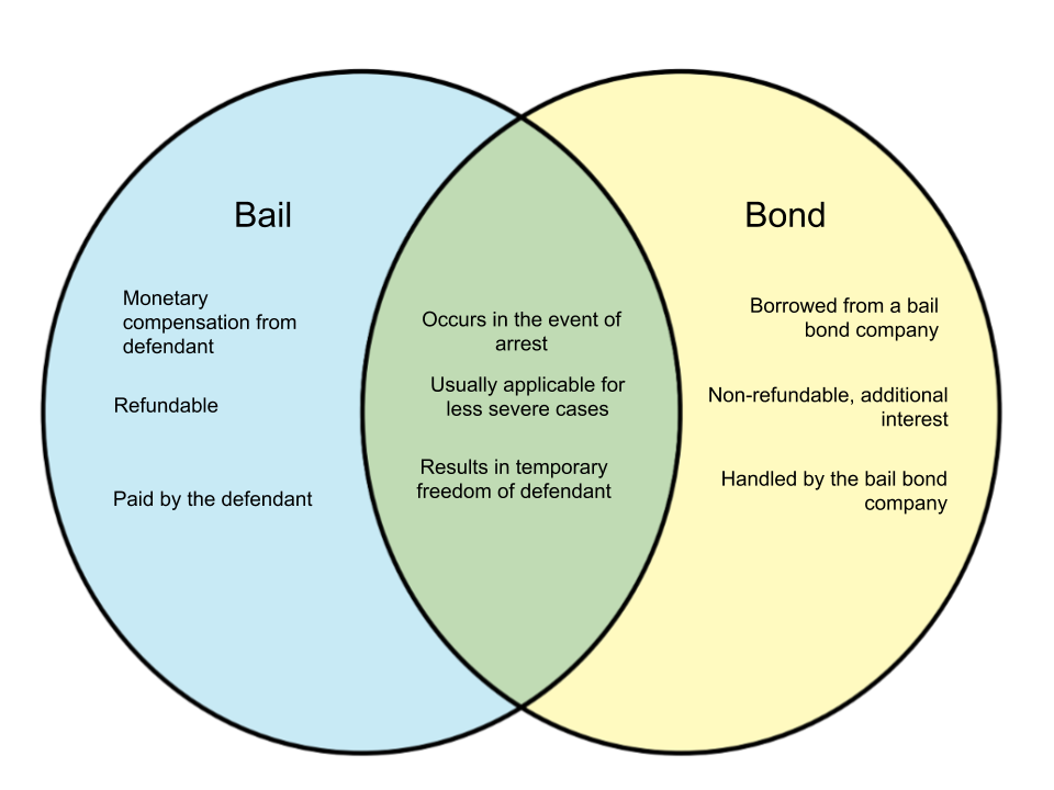 Difference Between Bail and Bond